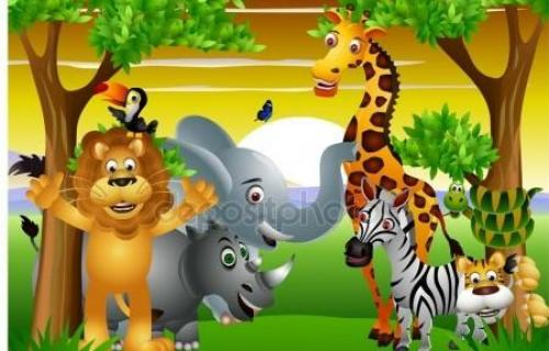 Cartoon motifs for children