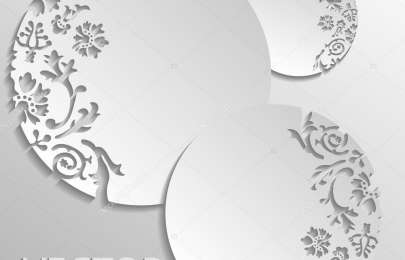 Vector gray floral background