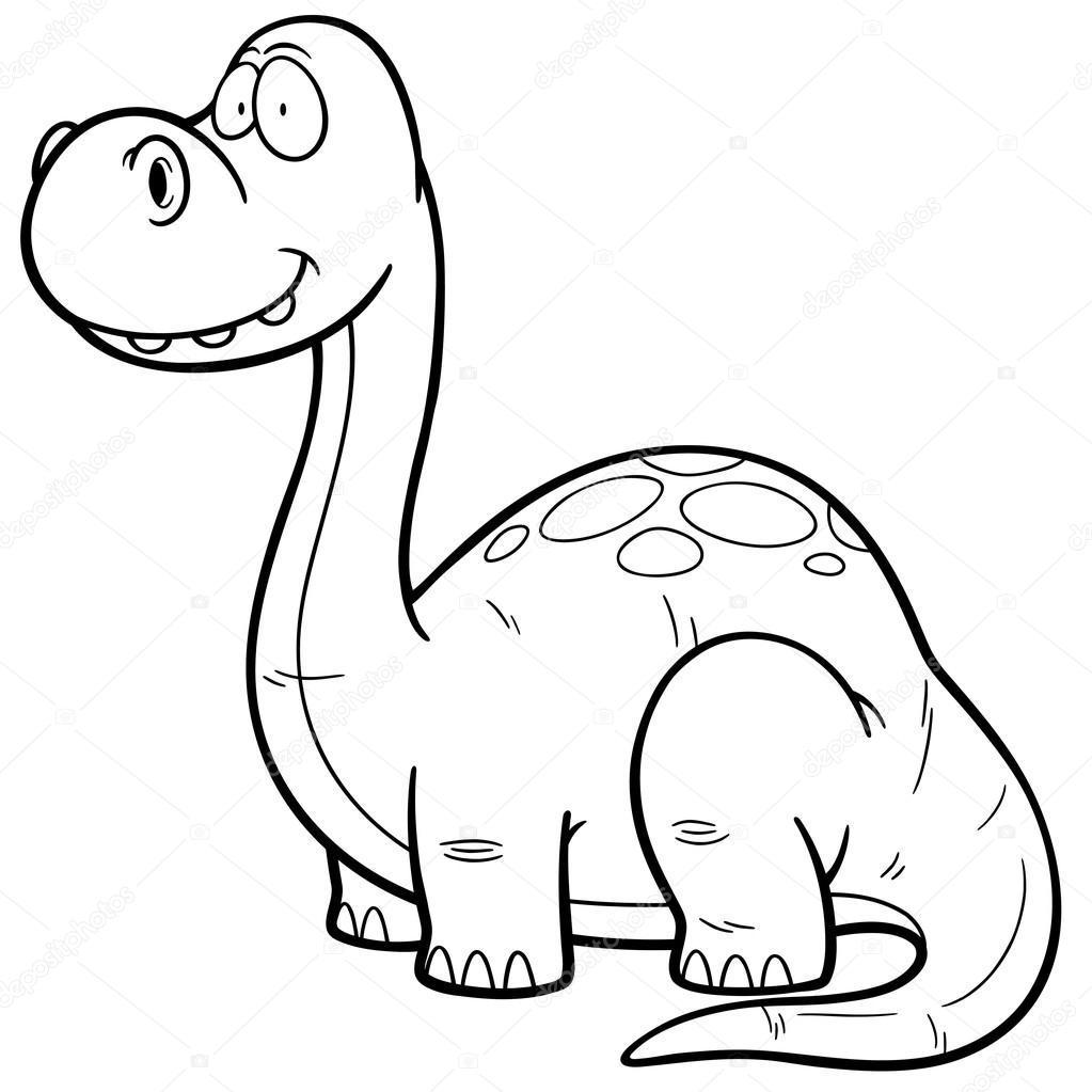 dinosaurus kreslený