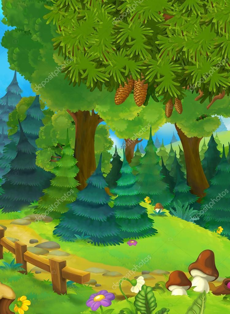 Výsledek obrázku pro obrázky lesa kreslené