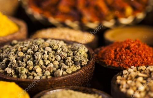 Seamless texture with spices and herbs