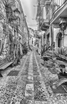 Picturesque streets and alleys in the seaside village, Scilla, Italy