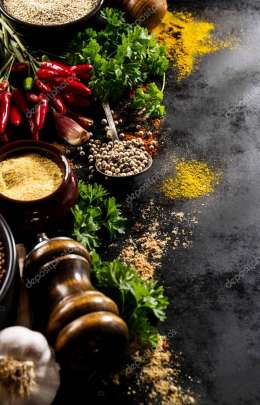 Beautiful Tasty Appetizing Ingredients Spices Grocery for Cookin