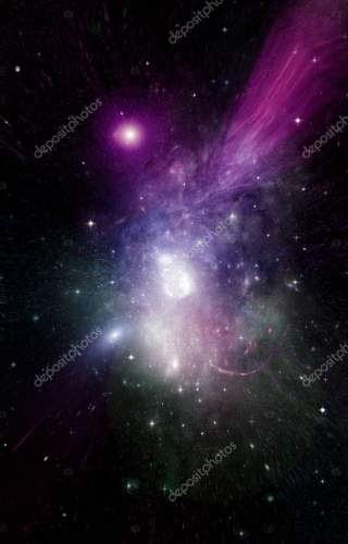 galaxy in a free space. 3D rendering