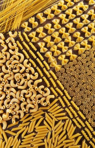 Delicious beautiful varied pasta decoration of any table