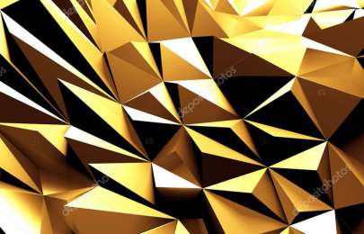 Luxury Golden Shiny Abstract Background. 3d Render
