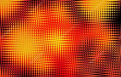 An artistic, vibrant, abstract wave form star background in hot red and yellow for use as a design element