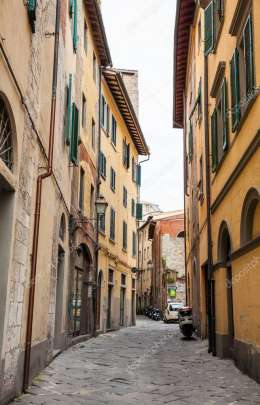 Picturesque streets of Pisa city center