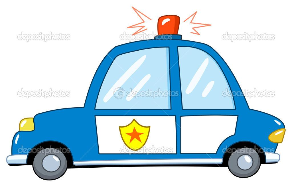 Policejni Auto Kresleny Fototapeta12